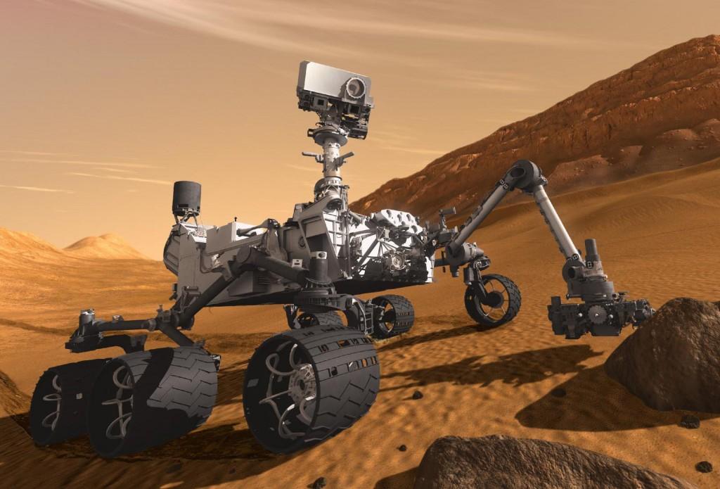 Robot Curiosity sur Mars - © Nasa